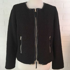Milly tweed and leather jacket 10